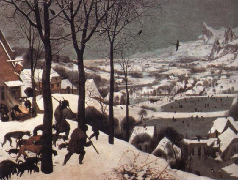 BRUEGHEL, Pieter the Younger The Hunters in the Snow oil painting image