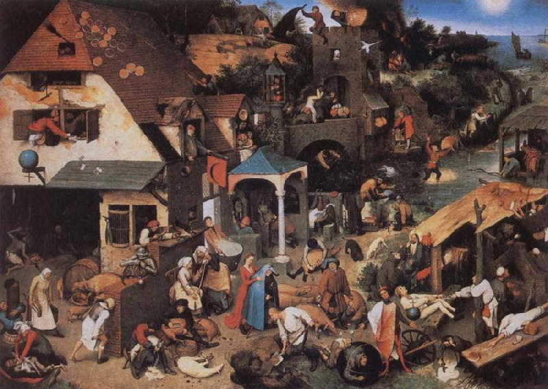 BRUEGHEL, Pieter the Younger Netherlandish Proverbs oil painting image