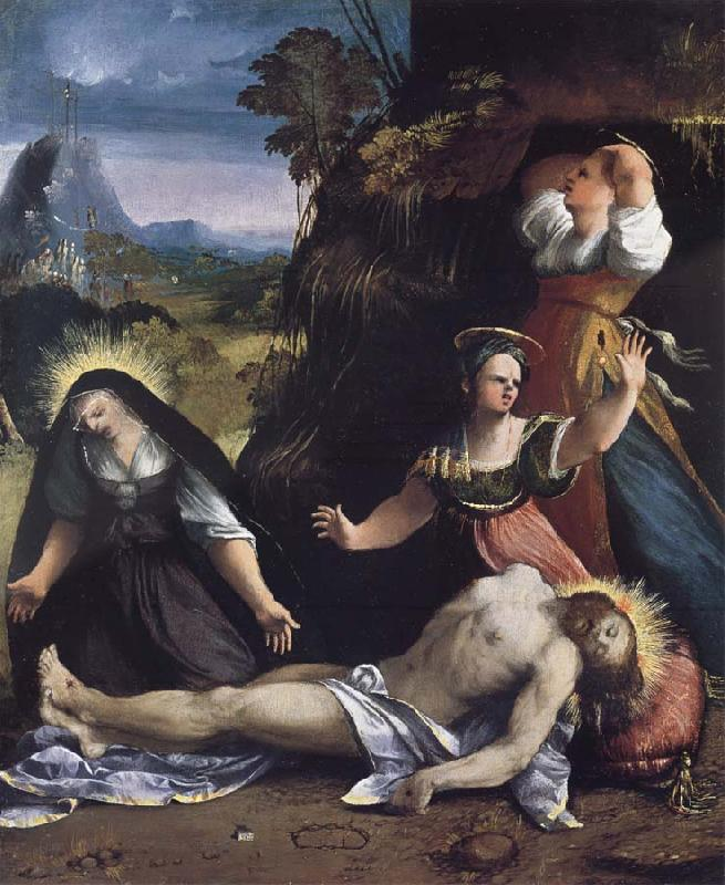Dosso Dossi Lamentation over the Body of Christ oil painting image