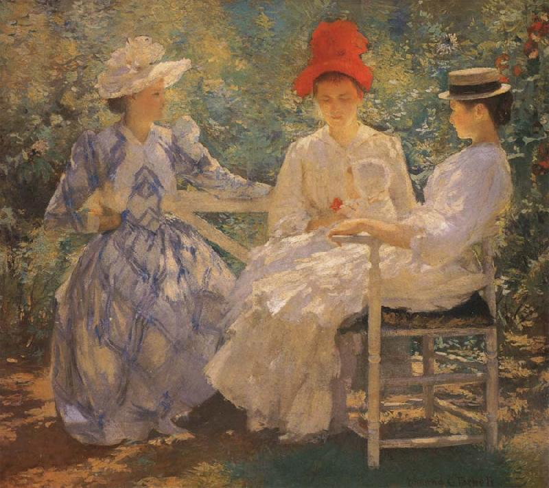 Edmund Charles Tarbell Three Sisters A Study in June Sunlight oil painting image