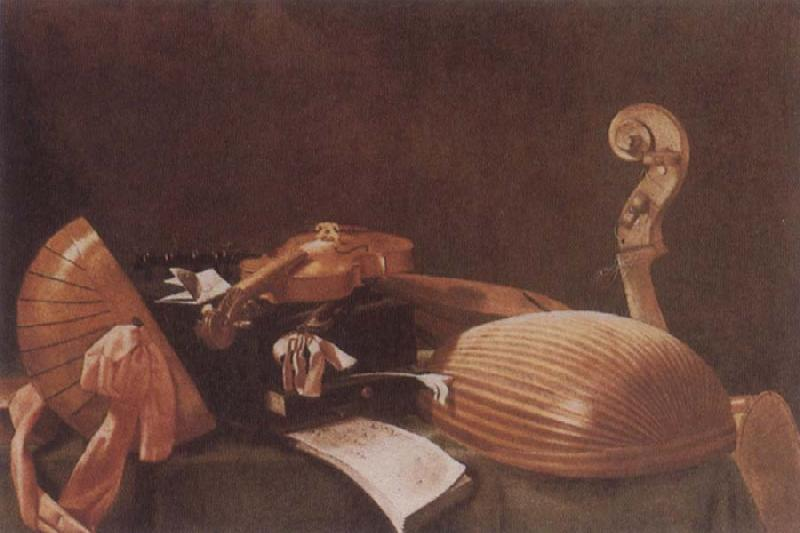Evaristo Baschenis Self-Life with Musical instruments oil painting image