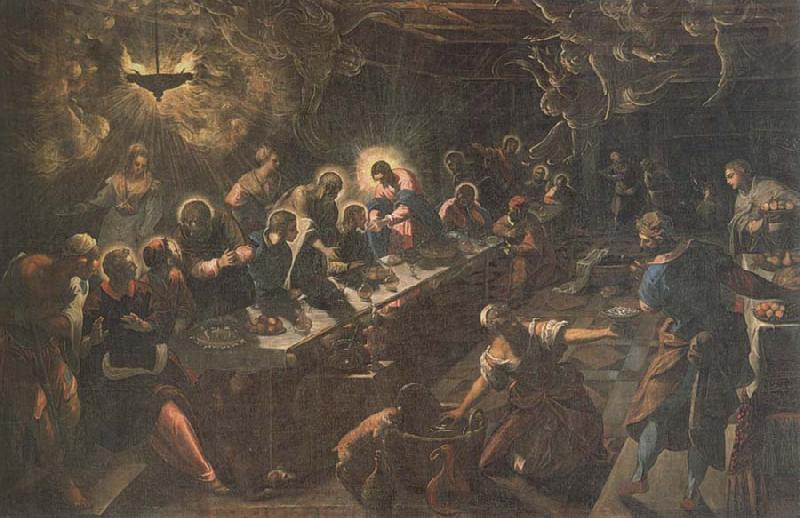 Jacopo Tintoretto Last Supper oil painting picture