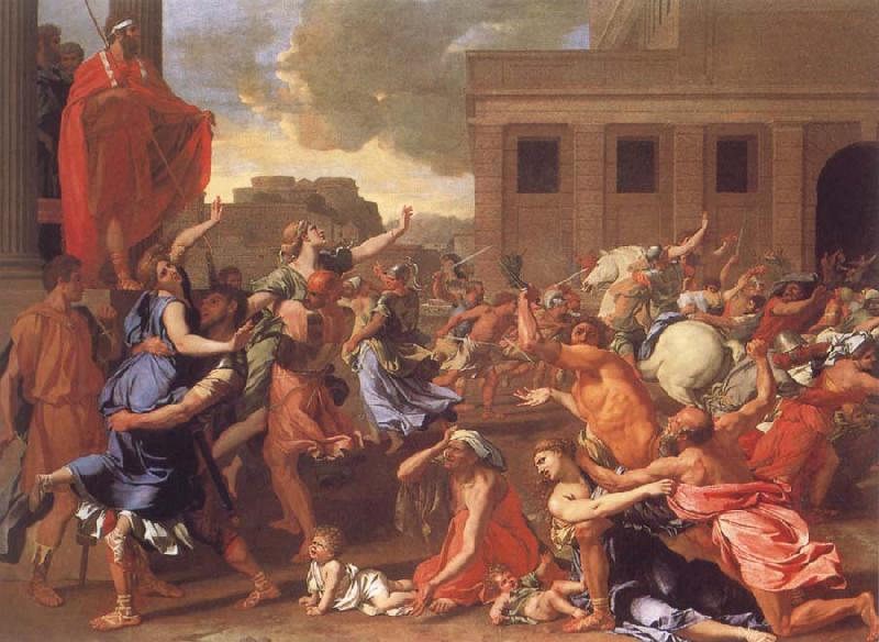 Nicolas Poussin The Abduction of the Sabine Women oil painting image