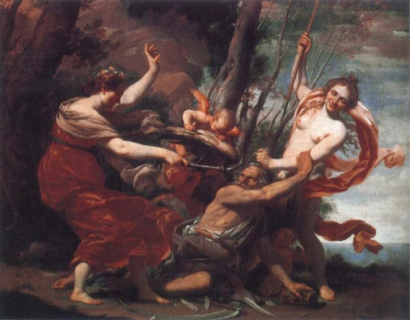 Simon Vouet Time Overcome by Hope and Beauty oil painting image