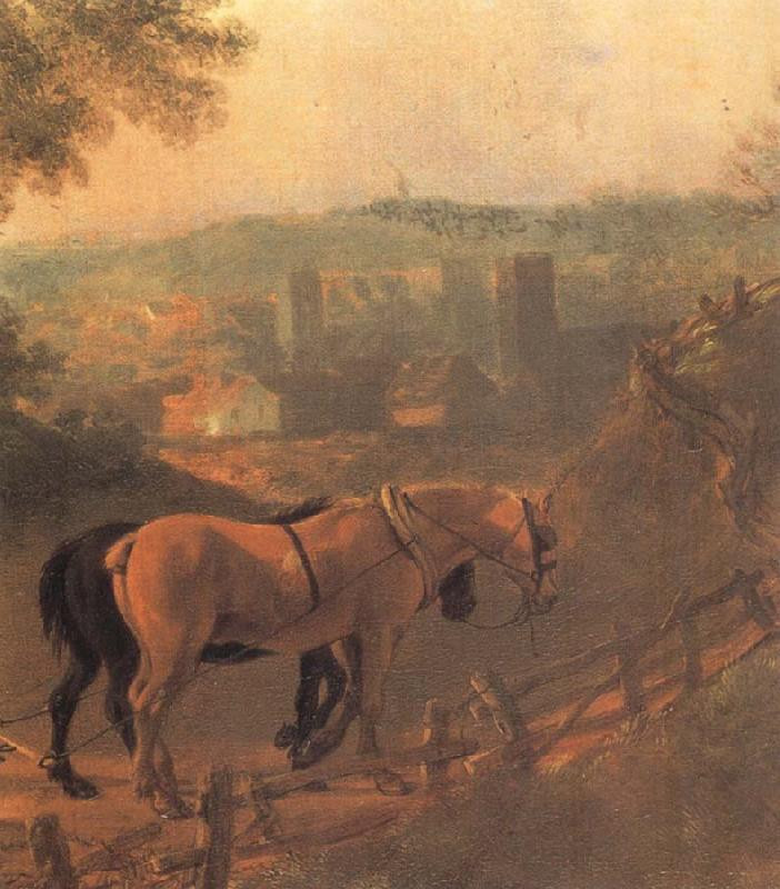 Thomas Gainsborough Detail of Landscape with a Woodcutter courting a Milkmaid oil painting image