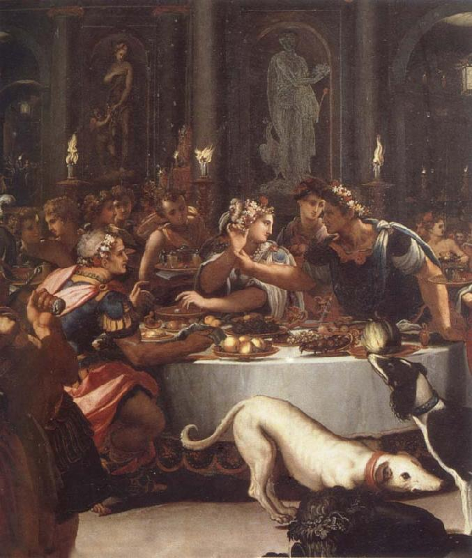 ALLORI Alessandro The banquet of the Kleopatra oil painting image
