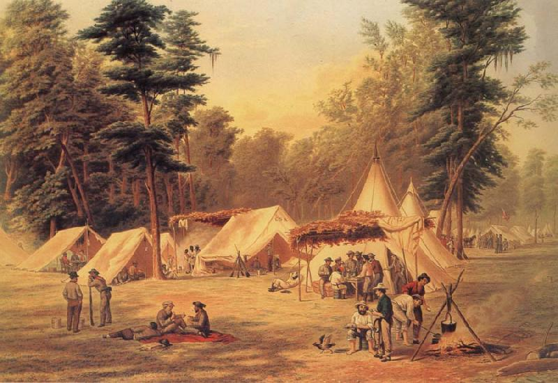 Conrad Wise Chapman Confederate Camp at Corinth oil painting image