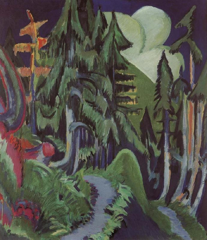 Ernst Ludwig Kirchner Mountain forest oil painting image