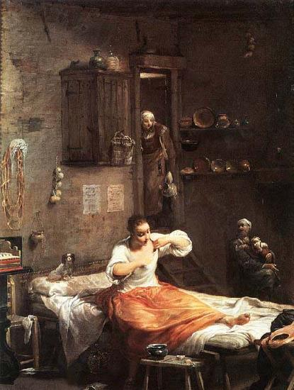 Giuseppe Maria Crespi Searcher for Fleas oil painting image