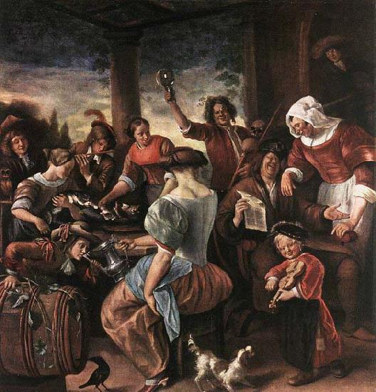 Jan Steen A Merry Party oil painting image
