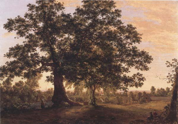 Frederic E.Church The Charter Oak at Hartford oil painting image