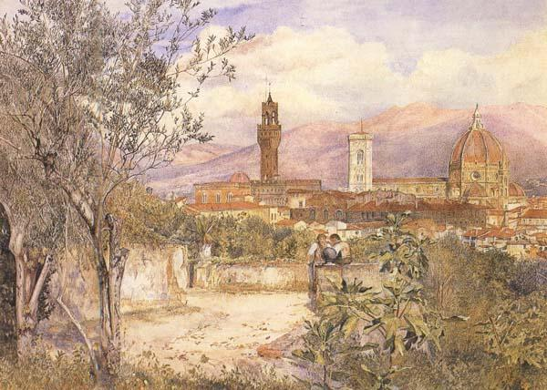 Henry Roderick Newman View of Florence,From the Gardens fo the Palazzo de'Mozzi (mk46) oil painting image