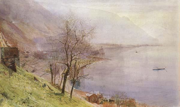 John William Inchbold Vew above MOntreux (mk46) oil painting image