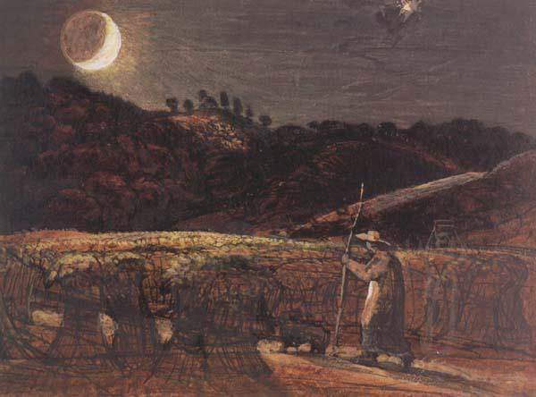 Samuel Palmer Cornfield by Moonlight oil painting image