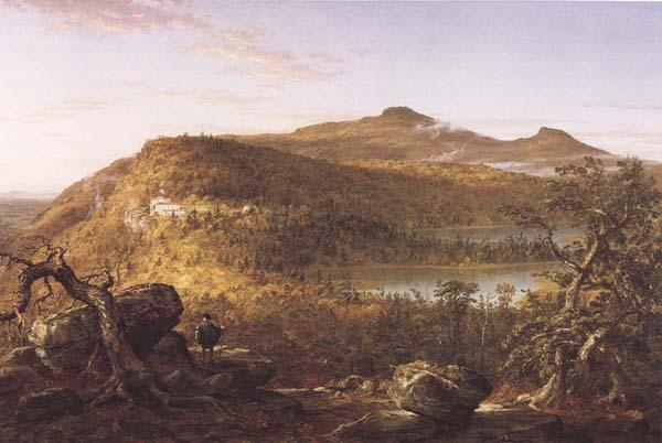 Thomas Cole A View of the Two Lakes and Mountain House,Catskill Mountains Morning oil painting image
