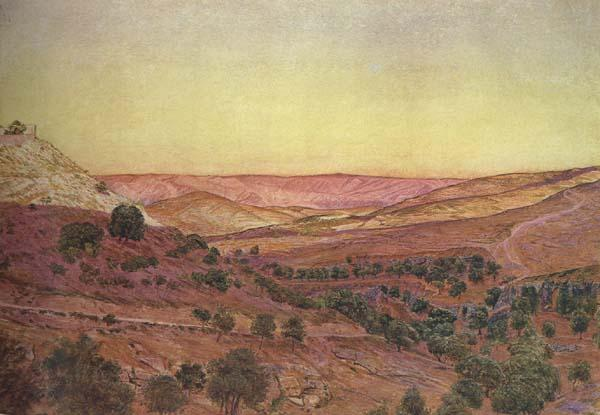Thomas Seddon Thi Hills of Moab and the Valley of Hinnom (mk46) oil painting image