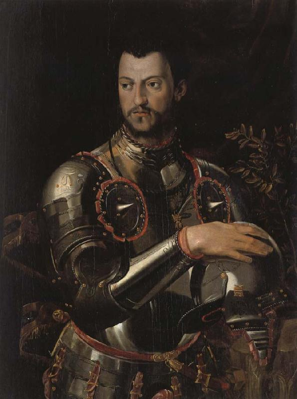 ALLORI Alessandro Cosimo I dressed in a portrait of Qingqi Breastplate oil painting image