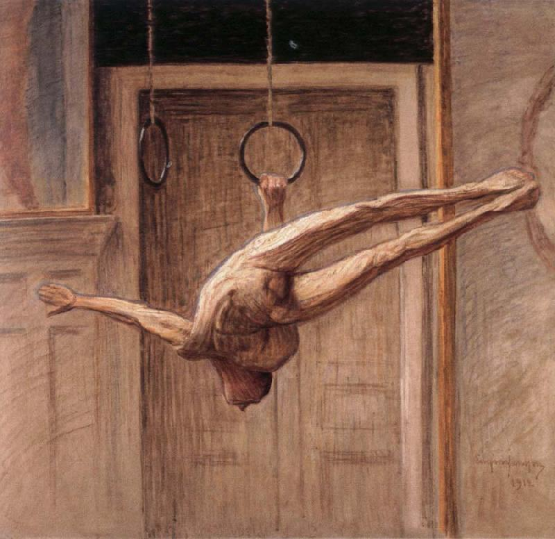 Eugene Jansson ring gymnast no.2 oil painting image