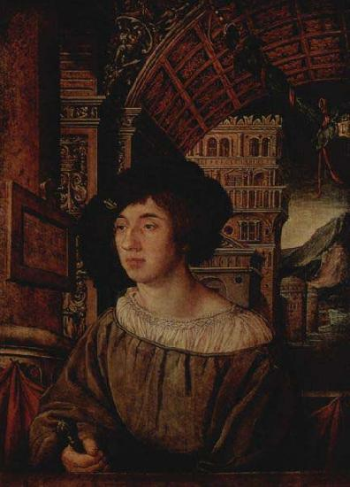 Ambrosius Holbein Portrait of a Young Man, oil painting image