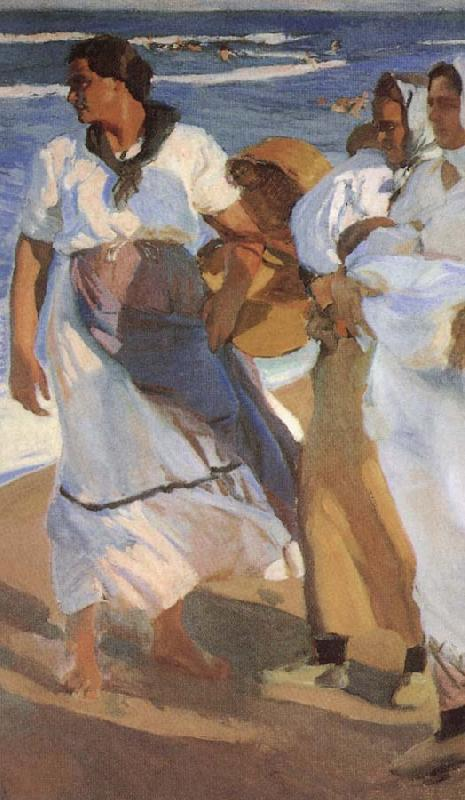 Joaquin Sorolla Valencia beaches oil painting picture