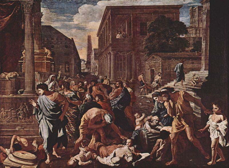 Nicolas Poussin The Plague at Ashdod, oil painting image