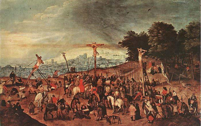 BRUEGHEL, Pieter the Younger Crucifixion oil painting image