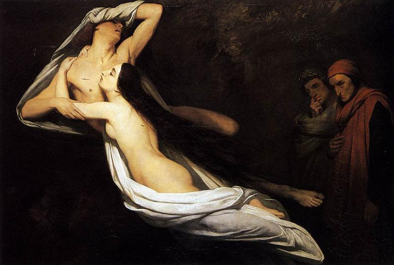 Ary Scheffer Dante and Virgil Encountering the Shades of oil painting image