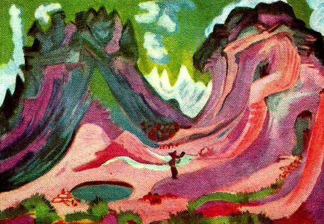 Ernst Ludwig Kirchner amselflue oil painting image