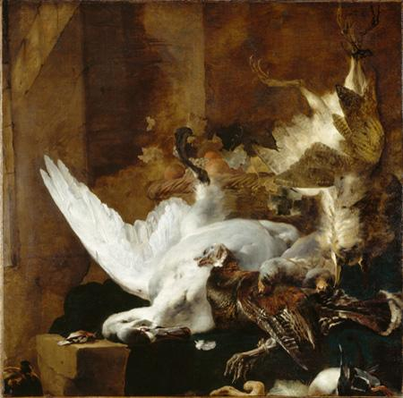 Jan Baptist Weenix Still Life with a Dead Swan oil painting image