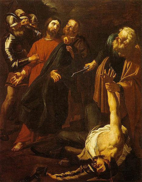 Dirck van Baburen Capture of Christ with the Malchus Episode oil painting image