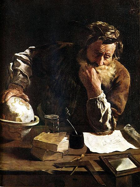 Domenico Fetti Archimedes Thoughtful oil painting image