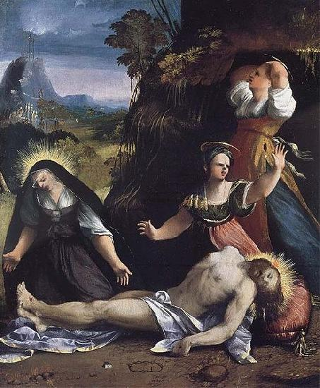 Dosso Dossi Lamentation over the Body of Christ by Dosso Dossi oil painting image