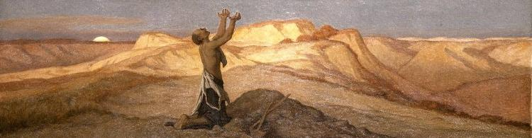 Elihu Vedder Prayer for Death in the Desert oil painting image