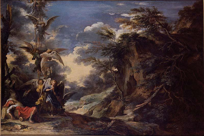 Salvator Rosa Jacob Dream oil painting picture