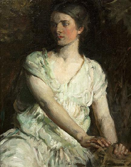 Abbot H Thayer Young Woman oil painting image