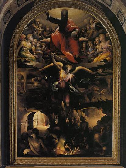 Domenico Beccafumi Fall of the Rebel Angels oil painting image
