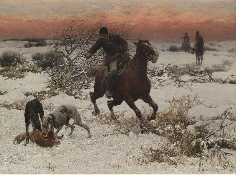 Alfred William Hunt,RWS The hunters oil painting image