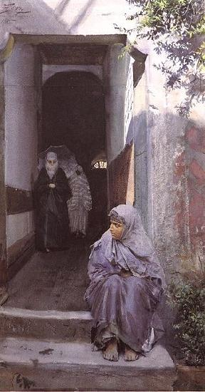 Anders Zorn I Top Capu oil painting picture