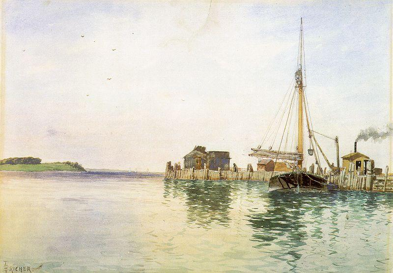 Alfred Thompson Bricher Harbor oil painting image
