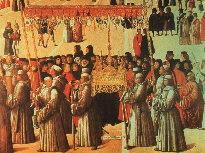 BELLINI, Gentile Procession in the Piazza di San Marco oil painting image