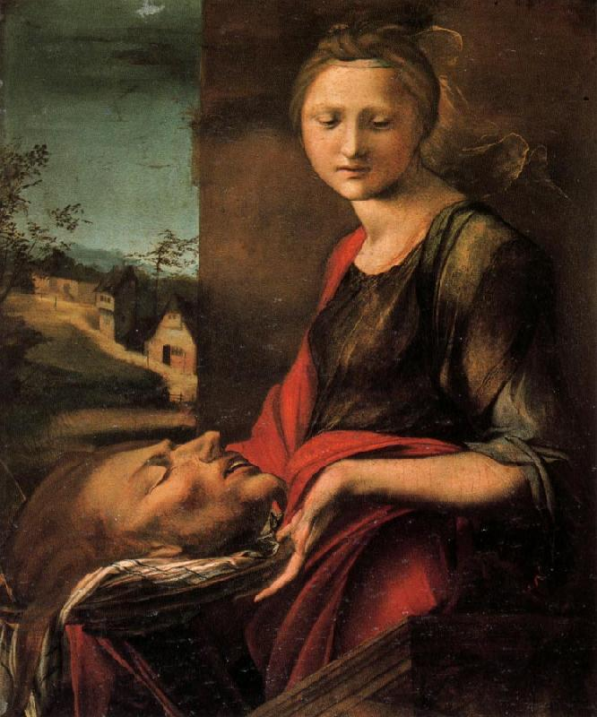 BERRUGUETE, Alonso Salome with the Head of John the Baptist oil painting image