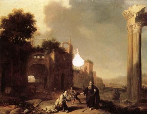 BREENBERGH, Bartholomeus The Prophet Elijah and the Widow of Zarephath oil painting image