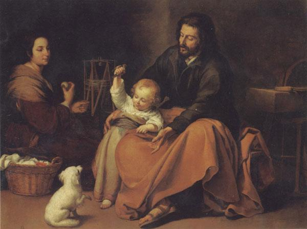 Bartolome Esteban Murillo The Holy Family with a Little bird oil painting image