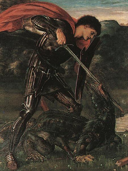 Burne-Jones, Sir Edward Coley St. George Kills the Dragon oil painting picture