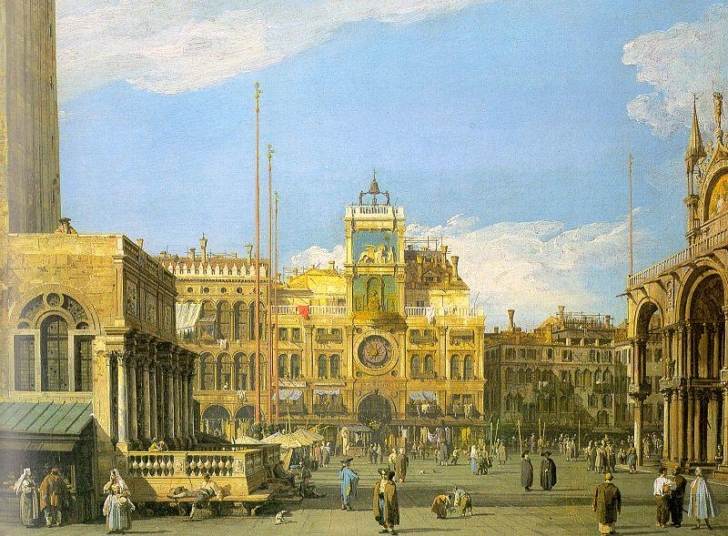 Canaletto Piazza San Marco- Looking North oil painting image