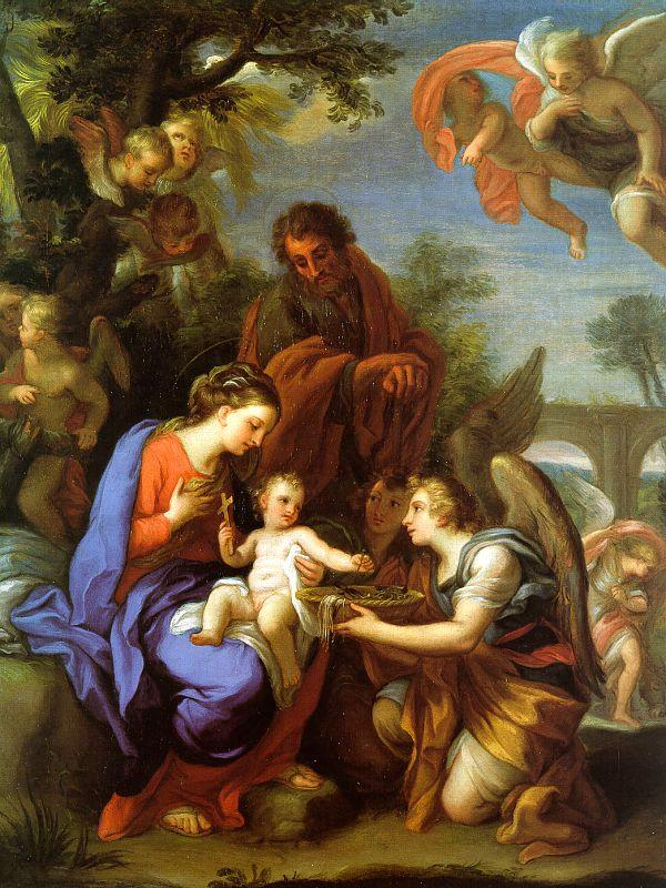 Chiari, Giuseppe The Rest on the Flight into Egypt oil painting image