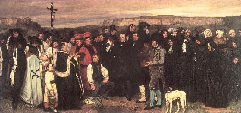 Courbet, Gustave A Burial at Ornans oil painting image