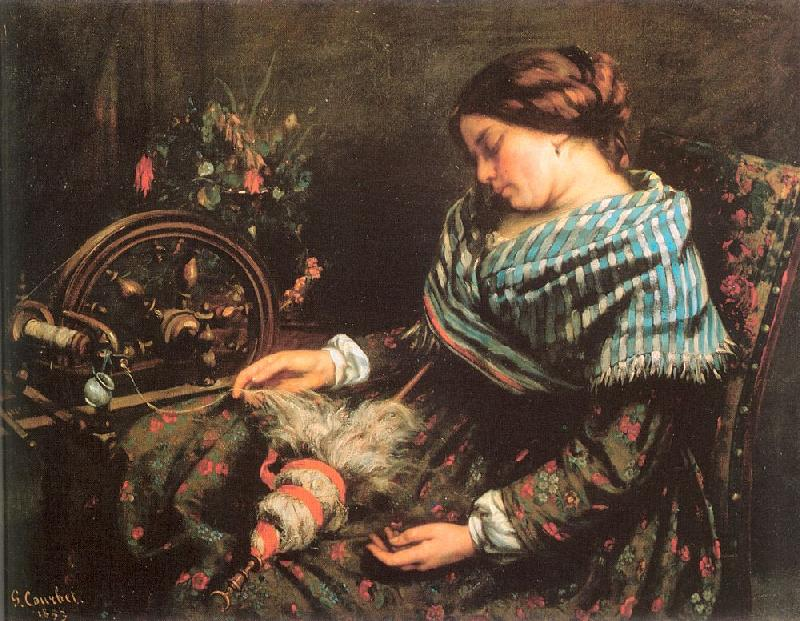 Courbet, Gustave The Sleeping Spinner oil painting image