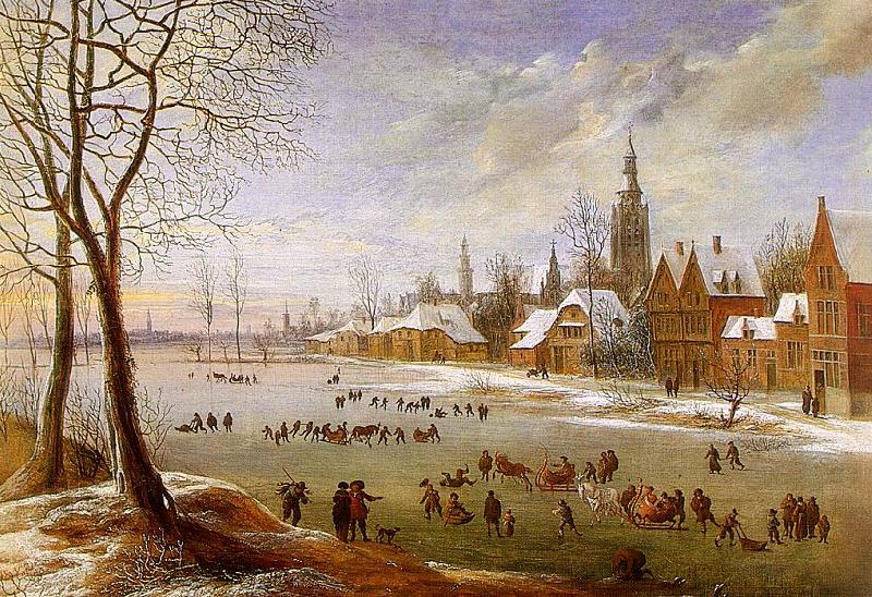 Daniel van Heil The Pleasures of Winter oil painting image