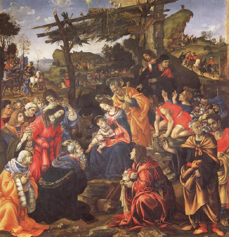 Filippino Lippi The Adoration of the Magi oil painting image